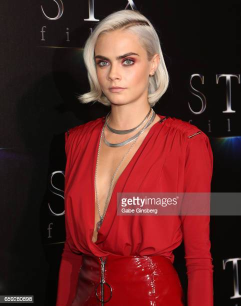 Actress Cara Delevingne attends STX Films' 'The State of the Industry Past Present and Future' presentation during CinemaCon at The Colosseum at...