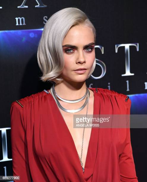 Actress Cara Delevingne attends STXfilms' 'The State of the Industry Past Present Future' presentation during CinemaCon at Caesars Palace on March 28...