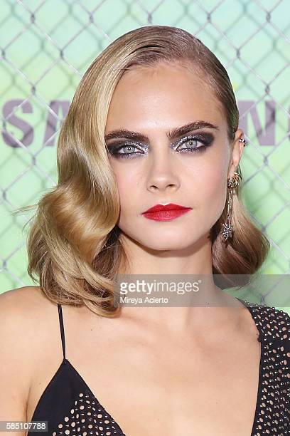 Actress Cara Delevingne attends 'Suicide Squad' World Premiere at The Beacon Theatre on August 1 2016 in New York City