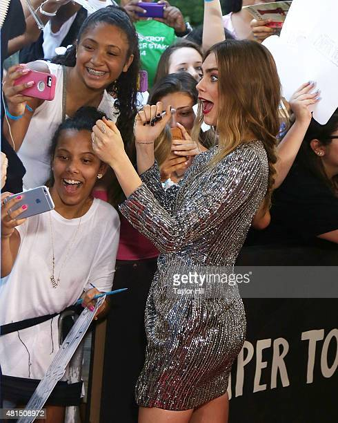 Actress Cara Delevingne attends the New York City premiere of Paper Towns at AMC Loews Lincoln Square on July 21 2015 in New York City