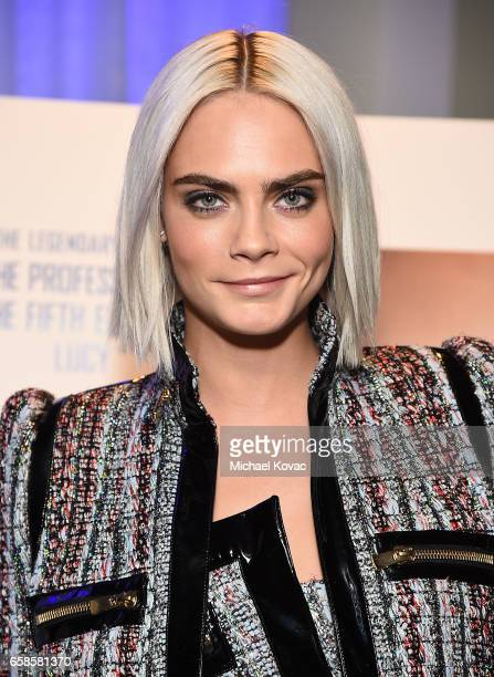 Actress Cara Delevingne attends the trailer viewing of 'Valerian and The City of a Thousand Planets' on March 27 2017 in Los Angeles California