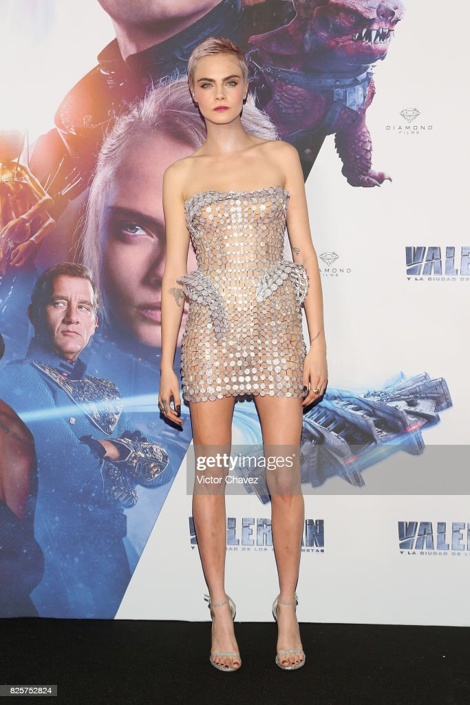 Actress Cara Delevingne attends the 'Valerian And The City Of A Thousand Planets' Mexico City premiere at Parque Toreo on August 2, 2017 in Mexico City, Mexico.