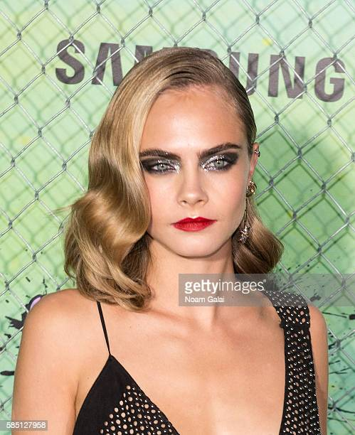 Actress Cara Delevingne attends the world premiere of Suicide Squad at The Beacon Theatre on August 1 2016 in New York City