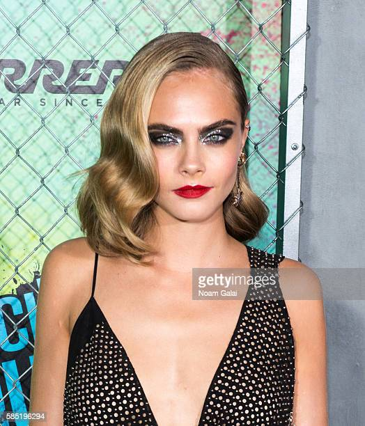 Actress Cara Delevingne attends the world premiere of 'Suicide Squad' at The Beacon Theatre on August 1 2016 in New York City