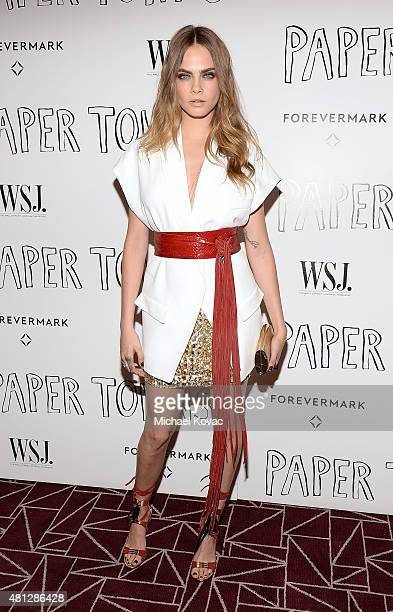 Actress Cara Delevingne attends WSJ Magazine and Forevermark Host a Special Los Angeles Screening of 'Paper Towns' at The London West Hollywood on...