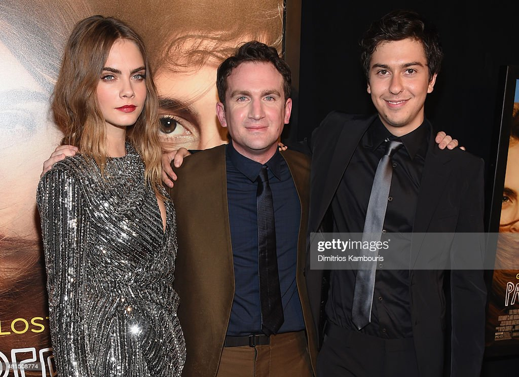 Actress Cara Delevingne, director Jake Schreier and actor Nat Wolff attend the 'Paper Towns' New York Premiere at AMC Loews Lincoln Square on July 21, 2015 in New York City.