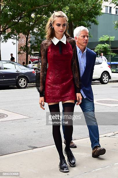 Actress Cara Delevingne is seen walking in Soho on August 1 2016 in New York City