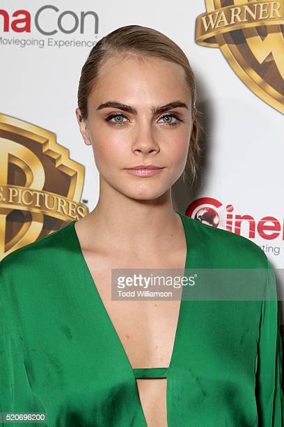 "Actress Cara Delevingne of 'Suicide Squad' attends CinemaCon 2016 Warner Bros Pictures Invites You to ""The Big Picture"" an Exclusive Presentation..."