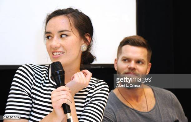 Actress Cara Gee and actor Wes Chatham attend the Science Of The Expanse Panel held at Sheraton Gateway Hotel on May 25 2018 in Los Angeles California