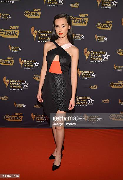 Actress Cara Gee attends the Canadian Screen Awards at Westin Harbour Castle Hotel on March 9 2016 in Toronto Canada