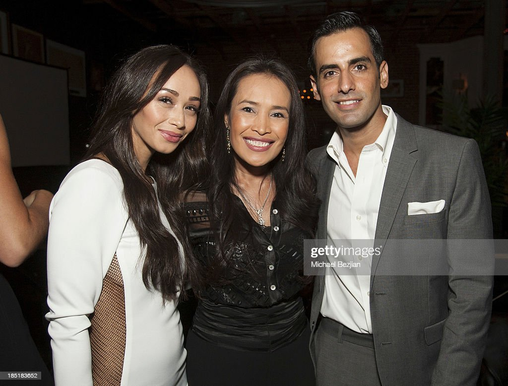 Actress Cara Santana, activist Somaly Mam and event producer Maurice Fadida attend Songs Of Hope Event Benefiting The Somaly Mam Foundation on October 17, 2013 in Hollywood, California.