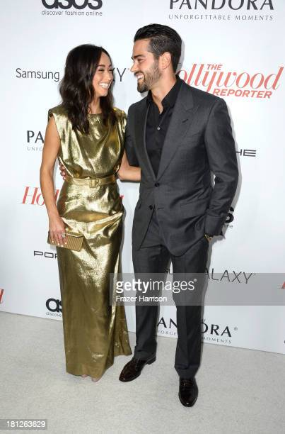 Actress Cara Santana and actor Jesse Metcalfe arrives at The Hollywood Reporter's Emmy Party at Soho House on September 19 2013 in West Hollywood...