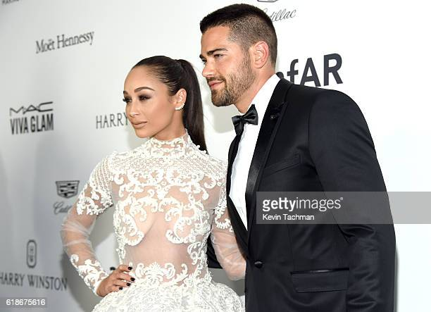 Actress Cara Santana and actor Jesse Metcalfe attend amfAR's Inspiration Gala at Milk Studios on October 27 2016 in Hollywood California