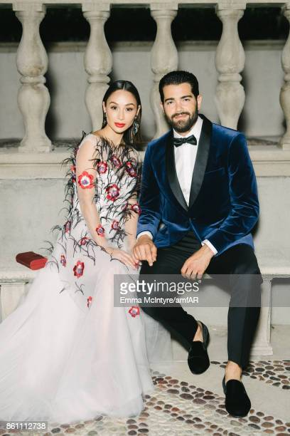Actress Cara Santana and actor Jesse Metcalfe pose for a portrait at Ron Burkle's Green Acres Estate on October 13 2017 in Beverly Hills California