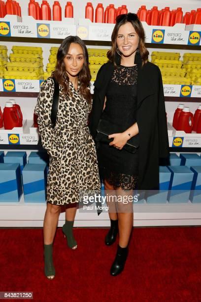 Actress Cara Santana and Global 6 Influencer Maren Wolf of Germany attend the Esmara By Heidi Klum Lidl Fashion Presentation at New York Fashion Week...