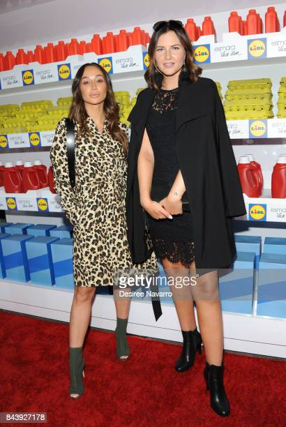 Actress Cara Santana and Global 6 Influencer Maren Wolf of Germany attend 'Esmara By Heidi Klum Heidi And The City' Fashion Presentation during New...