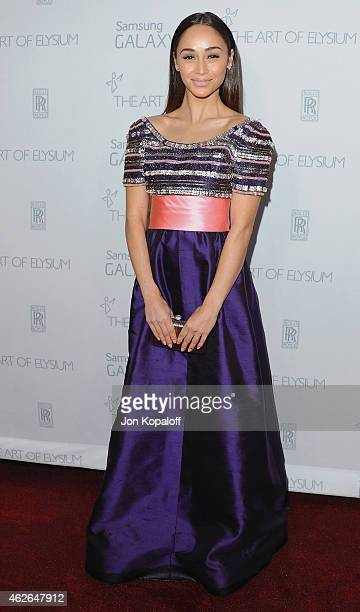 Actress Cara Santana arrives at The Art Of Elysium 8th Annual Heaven Gala at Hangar 8 on January 10 2015 in Santa Monica California