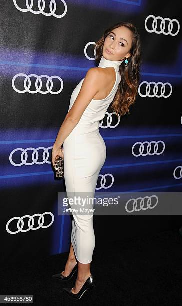 Actress Cara Santana arrives at the Audi Emmy Week Celebration at Cecconi's Restaurant on August 21 2014 in Los Angeles California