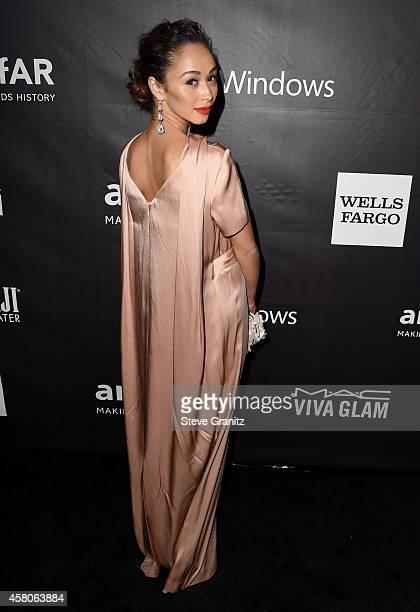 Actress Cara Santana attends amfAR LA Inspiration Gala honoring Tom Ford at Milk Studios on October 29 2014 in Hollywood California