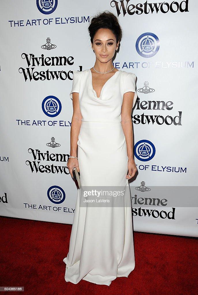 Actress Cara Santana attends Art of Elysium's 9th annual Heaven Gala at 3LABS on January 9, 2016 in Culver City, California.