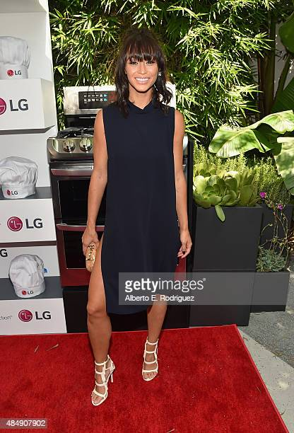 Actress Cara Santana attends Eva Longoria and LG Electronics Host 'Fam To Table' Series at The Washbow on August 22 2015 in Culver City California