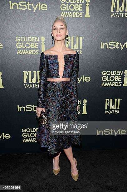 Actress Cara Santana attends Hollywood Foreign Press Association and InStyle Celebration of The 2016 Golden Globe Award Season at Ysabel on November...