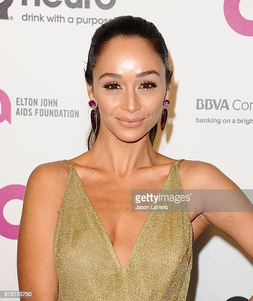 Actress Cara Santana attends the 24th annual Elton John AIDS Foundation's Oscar viewing party on February 28 2016 in West Hollywood California