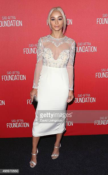 Actress Cara Santana attends the Screen Actors Guild Foundation 30th Anniversary Celebration at the Wallis Annenberg Center for the Performing Arts...