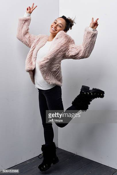 Actress Cara Santana poses for a portrait during the WireImage Portrait Studio hosted by Eddie Bauer at Village at The Lift on January 23 2016 in...