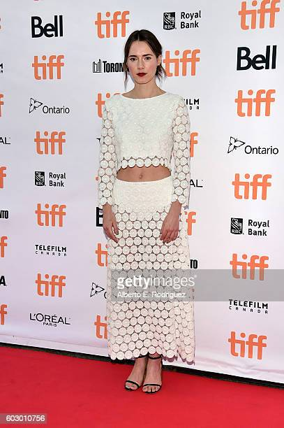 Actress Caren Pistorius attends the Denial premiere during the 2016 Toronto International Film Festival at Princess of Wales Theatre on September 11...