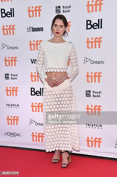 Actress Caren Pistorius attends the 'Denial' premiere during the 2016 Toronto International Film Festival at Princess of Wales Theatre on September...