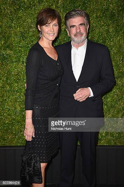 Actress Carey Lowell and Executive Tom Freston attend CHANEL Tribeca Film Festival Artists Dinner Arrivals on April 18 2016 in New York City
