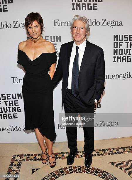 Actress Carey Lowell and husband actor Richard Gere attend the Museum of the Moving Image salute to Alec Baldwin at Cipriani 42nd Street on February...
