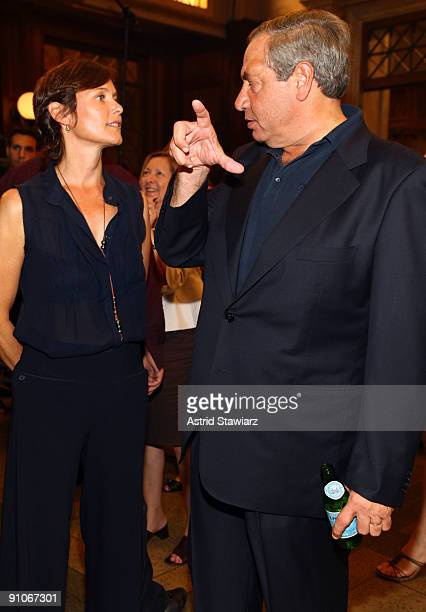Actress Carey Lowell and producer Dick Wolf attend the 'Law Order' 20th Season kickoff celebration at the Law Order Studio At Chelsea Piers on...