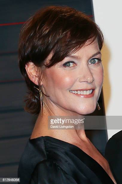 Actress Carey Lowell arrives at the 2016 Vanity Fair Oscar Party Hosted by Graydon Carter at the Wallis Annenberg Center for the Performing Arts on...