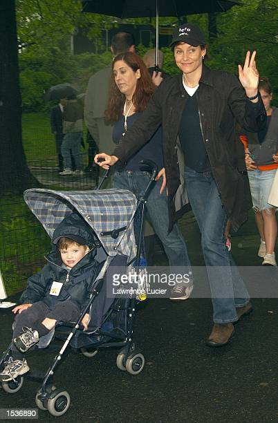 Actress Carey Lowell arrives at the 9th Annual Kids for Kids celebrity carnival April 28 2002 in New York City The carnival benefits the Elizabeth...
