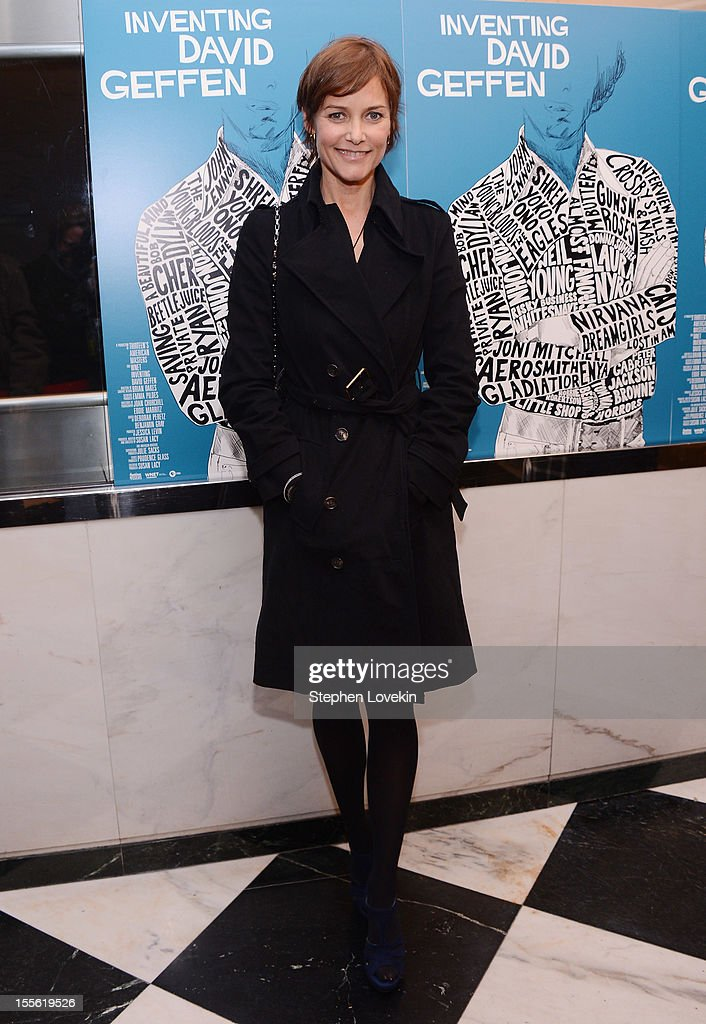 Actress Carey Lowell attends the 'Inventing David Geffen' New York Premiere at Paris Theater on November 5, 2012 in New York City.
