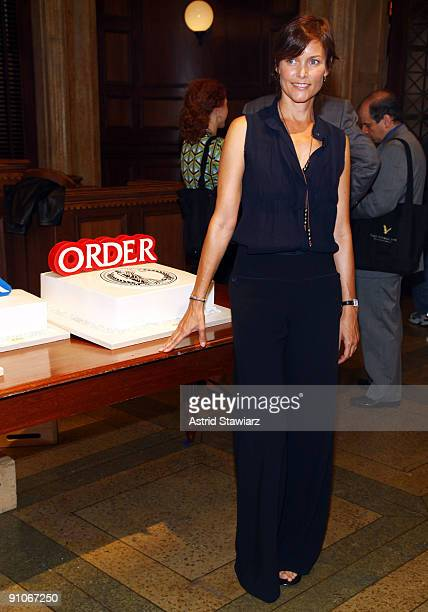 Actress Carey Lowell attends the 'Law Order' 20th Season kickoff celebration at the Law Order Studio At Chelsea Piers on September 23 2009 in New...
