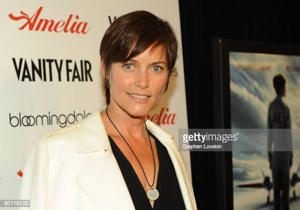 Actress Carey Lowell attends the premiere of 'Amelia' at The Paris Theatre on October 20 2009 in New York City