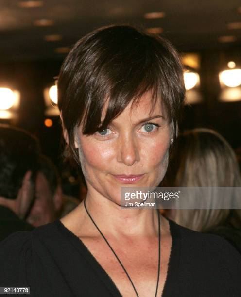 Actress Carey Lowell attends the premiere of Amelia at The Paris Theatre on October 20 2009 in New York City