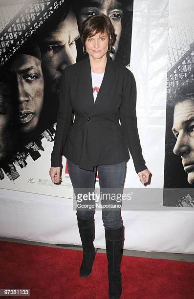 Actress Carey Lowell attends the premiere of 'Brooklyn's Finest' at AMC Loews Lincoln Square 13 theater on March 2 2010 in New York City