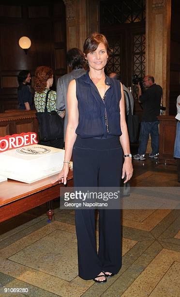Actress Carey Lowell attendsthe ''Law Order'' 20th Season kickoff celebration at the Law Order Studio At Chelsea Piers on September 23 2009 in New...