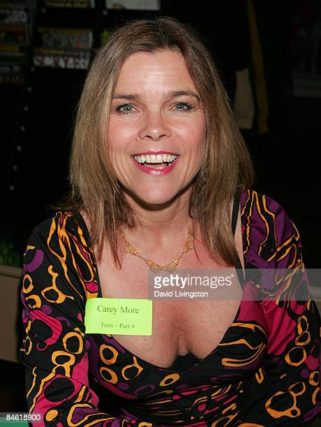 Actress Carey More attends Anchor Bay Entertainment's Jason Voorhees reunion at Emerald Knights comics and games store on February 3 2009 in Burbank...