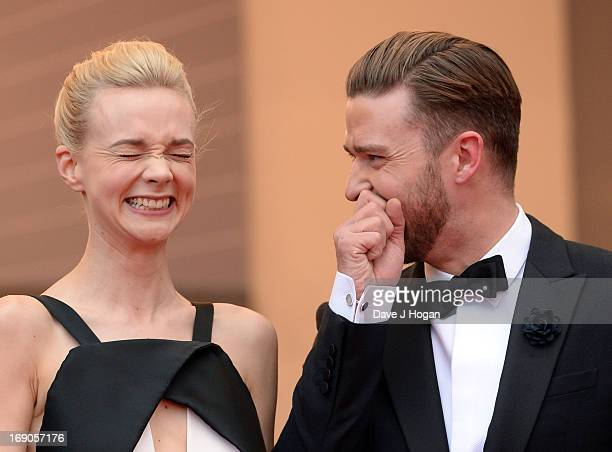 Actress Carey Mulligan and actor Justin Timberlake attend the 'Inside Llewyn Davis' Premiere during the 66th Annual Cannes Film Festival at Grand...