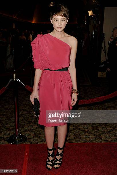 Actress Carey Mulligan arrives at the 62nd Annual Directors Guild Of America Awards at the Hyatt Regency Century Plaza on January 30 2010 in Century...