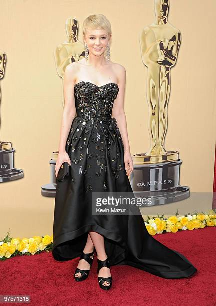 Actress Carey Mulligan arrives at the 82nd Annual Academy Awards at the Kodak Theatre on March 7 2010 in Hollywood California