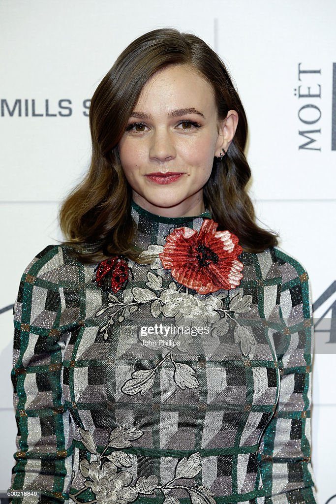 Actress Carey Mulligan arrives at The Moet British Independent Film Awards 2015 at Old Billingsgate Market on December 6, 2015 in London, England.