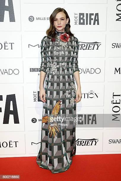 Actress Carey Mulligan arrives at The Moet British Independent Film Awards 2015 at Old Billingsgate Market on December 6 2015 in London England