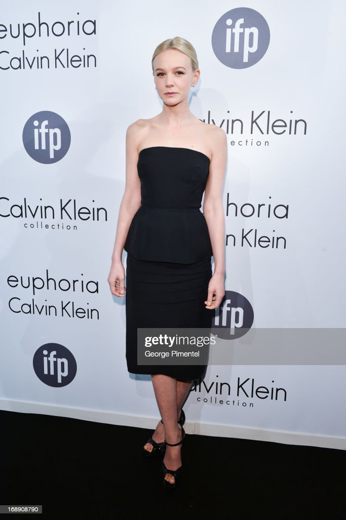 Actress Carey Mulligan attends a party hosted by Calvin Klein and IFP to celebrate women in film at The 66th Annual Cannes Film Festival at L'Ecrin Plage on May 16, 2013 in Cannes, France.