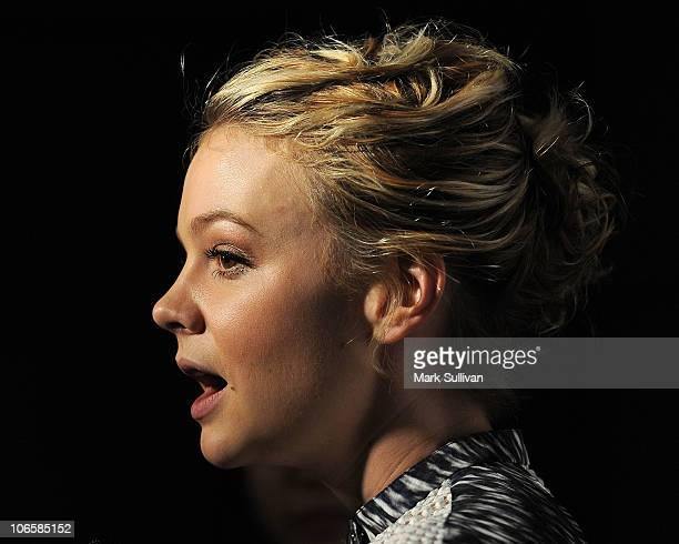 Actress Carey Mulligan attends AFI Fest 2010 Los Angeles Times Young Hollywood Roundtable at the Egyptian Theatre on November 5 2010 in Hollywood...